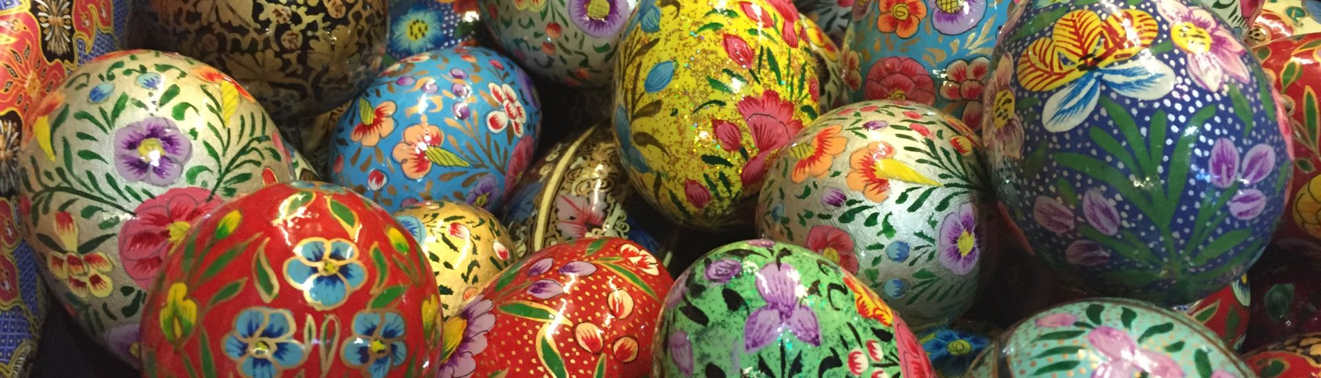 Decorative and colourful eggs from Malaysia's Peranakan community.