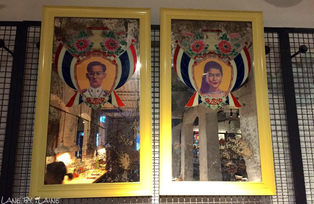 Pictures of the King and Queen at Longchim Restaurant in Perth