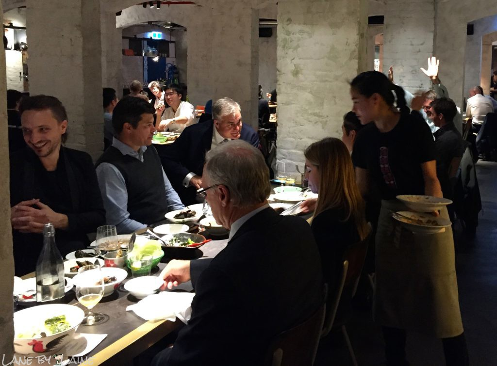 Crowd of diners at Longchim Restaurant in Perth