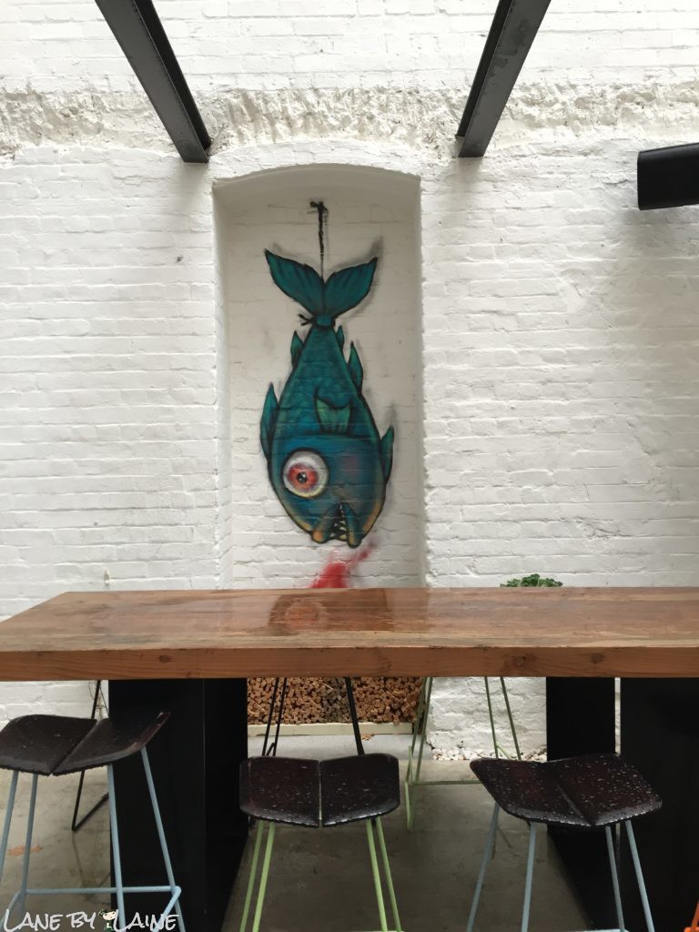 Part of the outdoor eating area at Longchim Restaurant in Perth