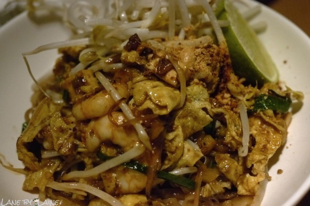 Pad Thai dish at Longchim Restaurant in Perth