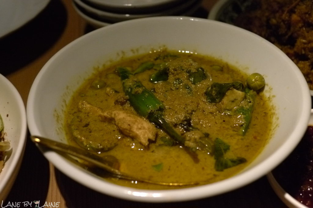 Green curry chicken at Longchim Restaurant in Perth.