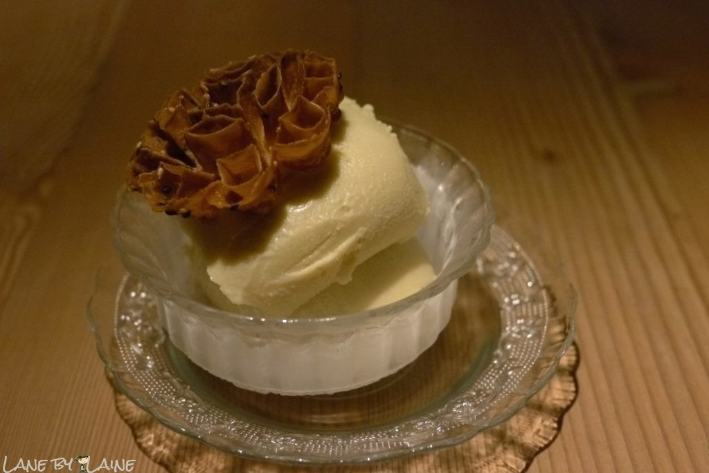 Durian ice cream at Longchim Restaurant in Perth