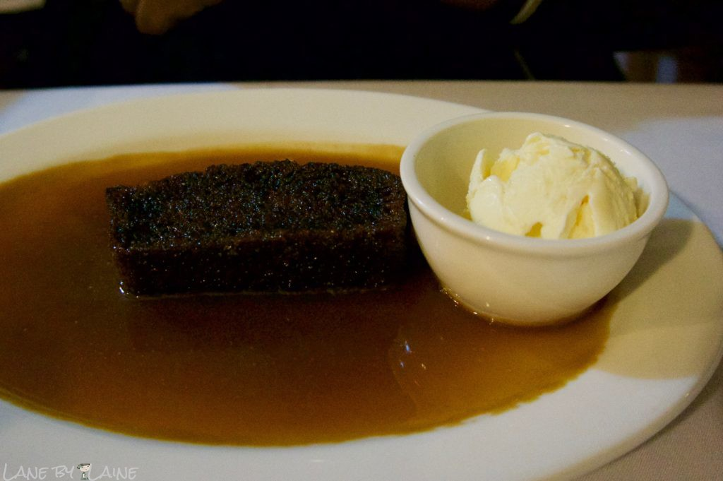 Sticky Date Pudding at Charcoal Grill on the Hill restaurant